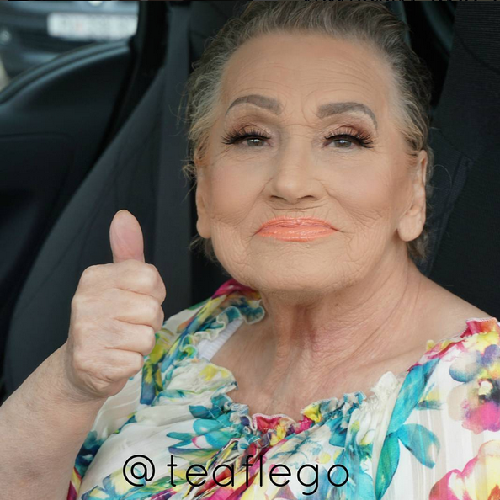 Tea's grandma, Livia – could you tell she's already 80?