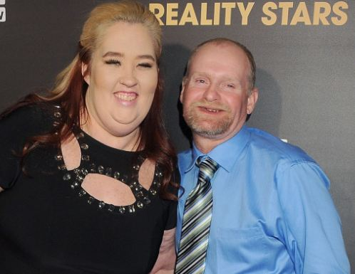 Mama June Shannon wearing a fat suit